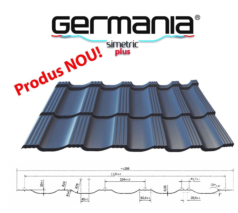 profil tabla tip tigla metalica Germania Simetric Plus Blachotrapez