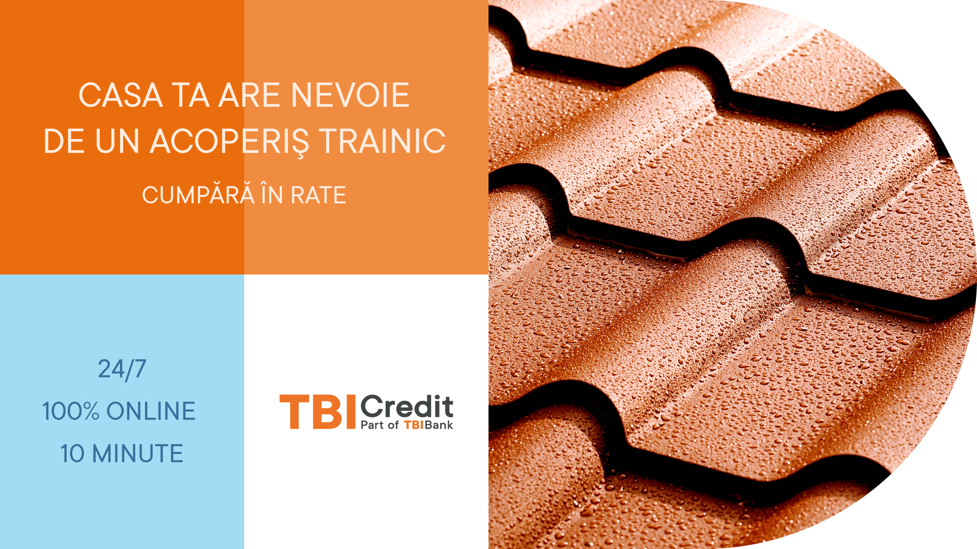 tabla tip tigla metalica in RATE prin Tbi Credit
